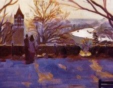 Aldo Balding - Winter Afternoon on Richmond Hill, De. Болдинг, Aldo