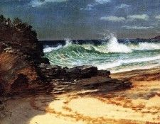 Bierstadt Albert Beach at Nassau. Бирштадт, Альберт