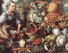 BEUCKELAER Joachim Market Woman With Fruit Vegetables And Poultry. Beuckelaer Иоахим