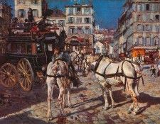Bus on the Pigalle Place in Paris. Boldini, Джованни