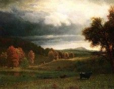 Bierstadt Albert Autumn Landscape The Catskills. Бирштадт, Альберт