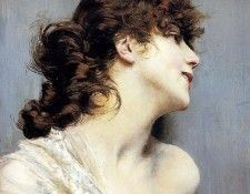 Profile of a Young Woman. Boldini, Джованни