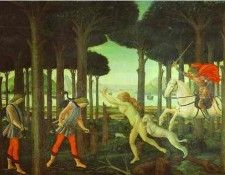 Alessandro Botticelli - The Encounter with the Damned in the Pine Forest. Боттичелли, Alessandro