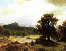Bierstadt Albert Day-s Beginning. Бирштадт, Альберт