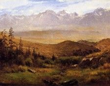 Bierstadt Albert In the Foothills of the Mountais. Бирштадт, Альберт