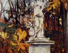 Statue in the Park of Versailles. Boldini, Джованни