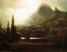 Bierstadt Albert By a Mountain Lake. Бирштадт, Альберт