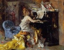 Woman at a Piano 1871 79. Boldini, Джованни