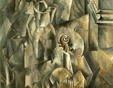 Braque Violin and pitcher, 1910, Kunstmuseum Basel. Брак, Жорж