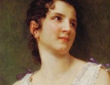 Portrait of a young girl 1896 46.4x38.1cm  . Бугро, Адольф Вильям