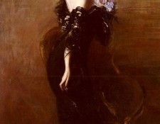 Boldini Giovanni Portrait Of madame Pages In Evening Dress. Boldini, Джованни