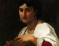 Bouguereau William L- italienne au tambourin. Бугро, Адольф Вильям