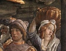 Botticelli Scenes from the Life of Moses detail 4. Боттичелли, Alessandro