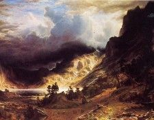 Bierstadt Albert A Storm in the Rocky Mountains Mr. Rosalie. Бирштадт, Альберт
