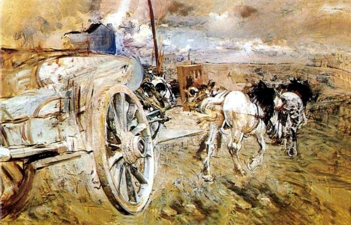 The Tombereau at the Porte dAsieres. Boldini, Джованни