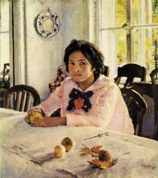 Картина «Девочка с персиками»