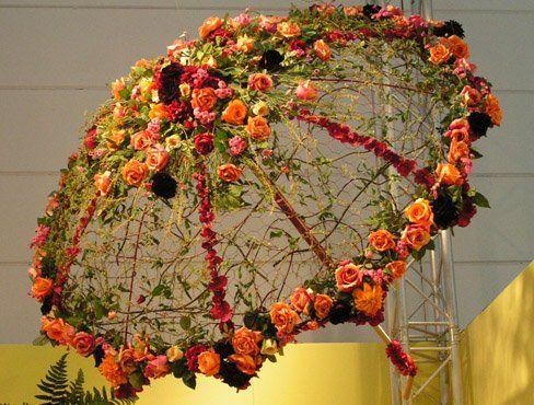 Экспозиции цветов своими руками