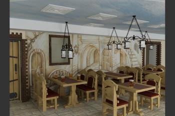 Расписанные стены и потолки в ресторанах и кафе