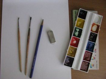 Оборудование для рисования акварелью