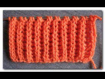 Способы и примеры вязания резинки спицами