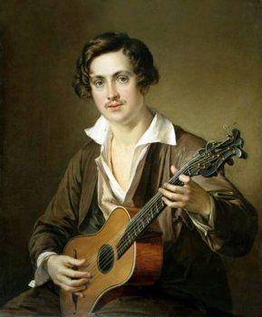 Василий Тропинин — картина «Гитарист»