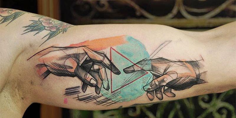 Татуировки с сюжетами картин великих живописцев
