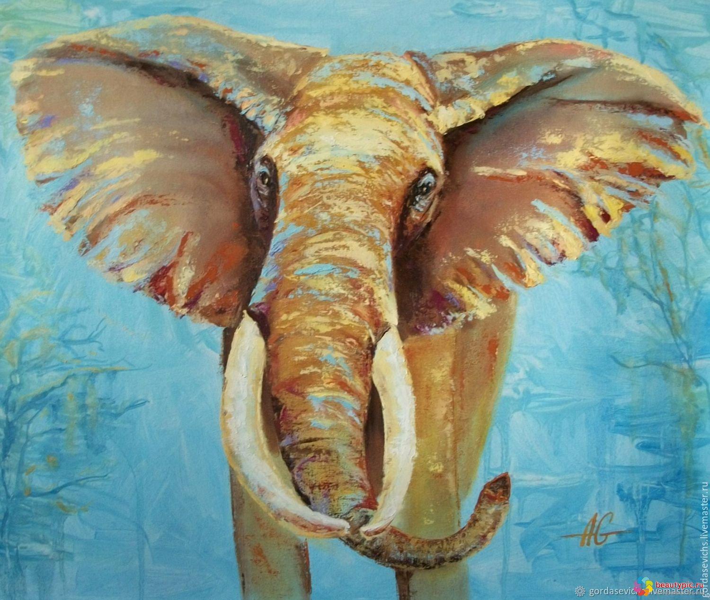 Картина Слон на холсте